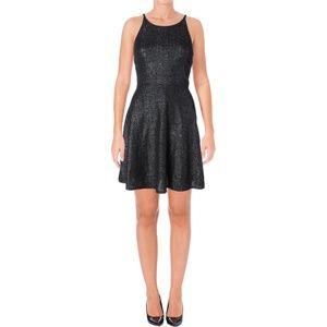 NWT Aqua Metallic Dress